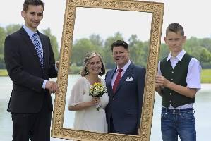 Hochzeit-Kinder-Rahmen